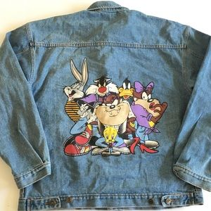 LOONEY TUNES 1997 Vintage Denim Jacket Size Large